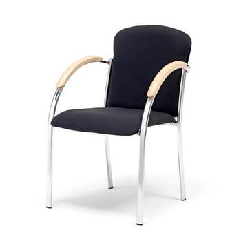 Konferencijska stolica, krom/crna