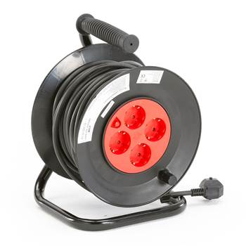 Electric cable reel, grounded, 25 meter