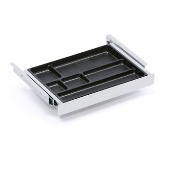 Pen tray, 380x245x42 mm, alu grey