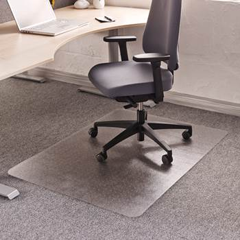 Chair mat for soft floors, 900x1200 mm