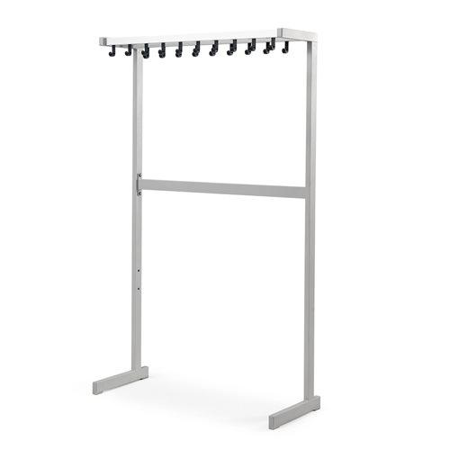 Large coat rack: single-sided: alu