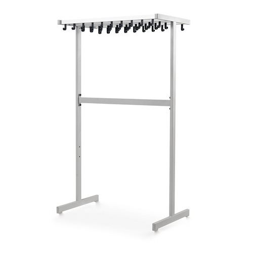 Large coat rack: double-sided: alu