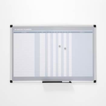 Whiteboard, närvarotavla/dagplanering, 900x600mm