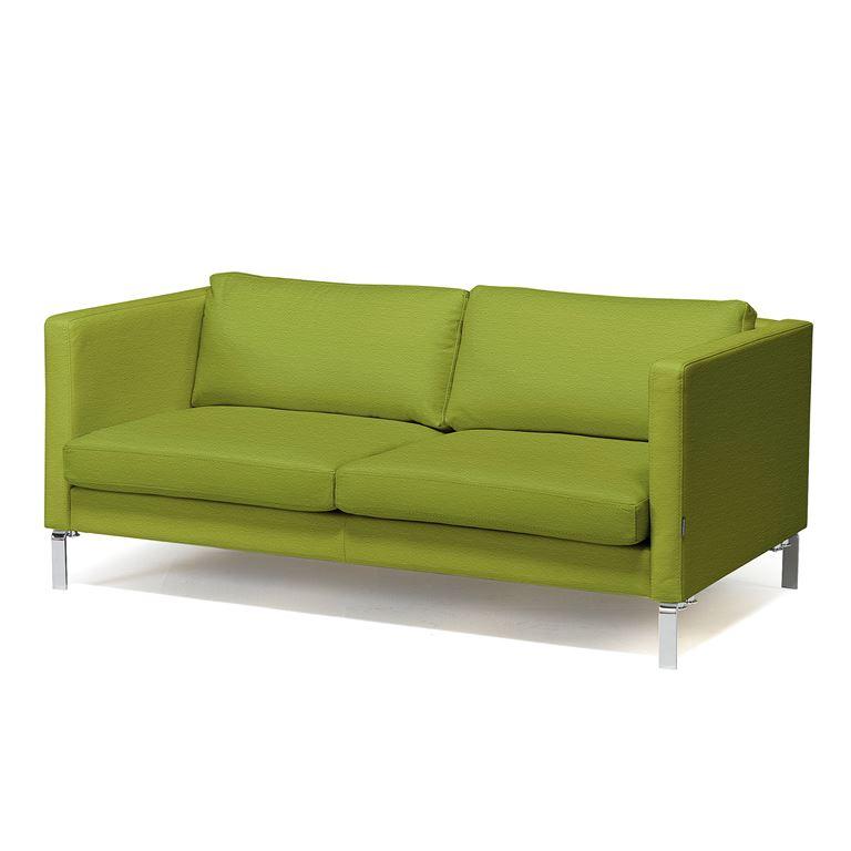 2,5 siedziskowa sofa z serii KVADRAT tapicerowana tkanią w kolorze oliwkowy