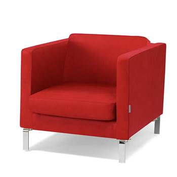 Waiting room armchair, leather, red