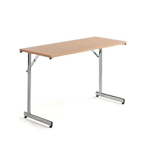 Stół konferencyjny, stelaż chrom, blat buk laminat