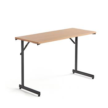 Basic conference table, 1200x500x730 mm, beech, black