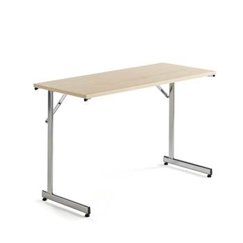 Basic conference table, 1200x500x730 mm, birch, chrome
