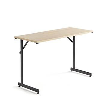 Konferensbord, SVART! stativ, fällbart, 1200x500 mm, björklaminat