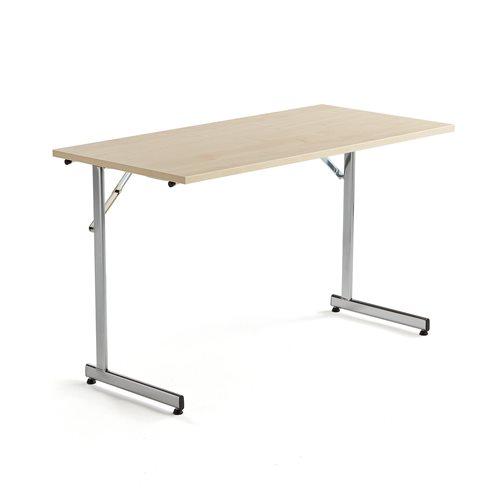 Neuvottelupöytä, taitettava, 1200x600 mm, koivulaminaatti, kromi