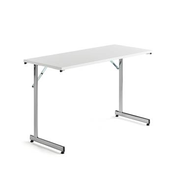 Basic conference table: 1200x500mm: white/chrome