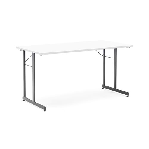 Basic conference table: 1400x700mm: white/black
