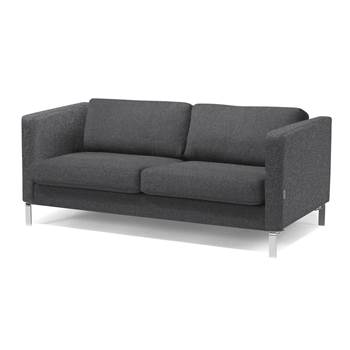 Wating room 3 seater sofa, dark grey wool