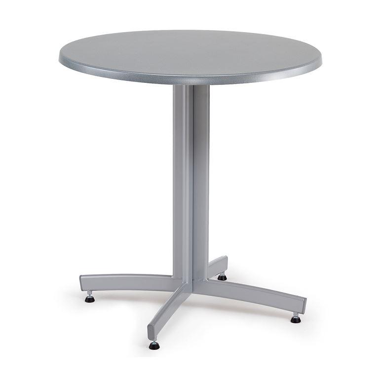 Okrągły stół kawiarniany, Blat: Szary antracyt, Stelaż: Czarny
