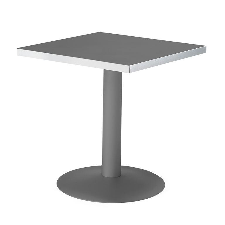 Kwadratowy  stół kawiarniany z blatem czarnym i stelażem czarnym