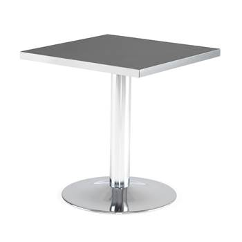 Square café table, 700x700x720 mm, black, chrome