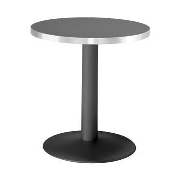 Round café table, Ø700x720 mm, black, black