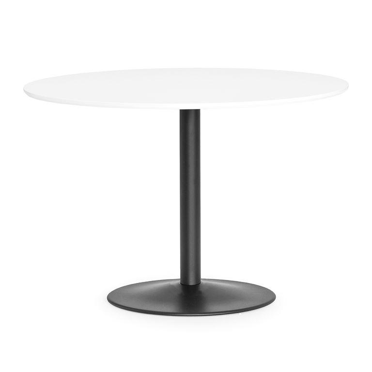 Kahvilapöytä, Ø1100 mm, valkoinen, musta jalka