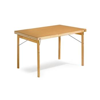 Wooden folding table, 1200x800x740 mm, hard board, wood