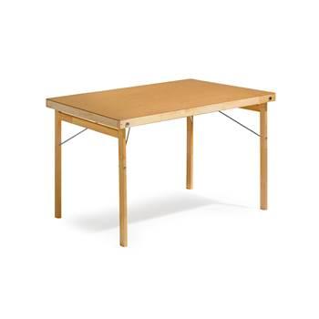 Stół składany o wym.800x1200mm z drewnianymi nogami, Laminat HP