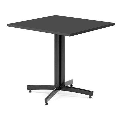 Kahvilapöytä, 700x700 mm, musta, musta jalka