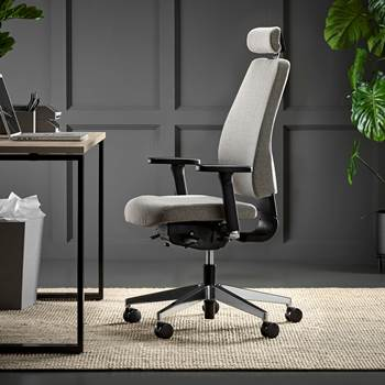 Watford office chair, beige fabric