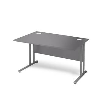 Skrivebord Flexus, 1200x800 mm, grå/alu