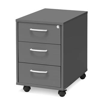 Mobile pedestal, 3 drawers, 550x400x600 mm, grey