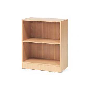 Bookcase, 2 shelves, 925x760x415 mm, beech laminate