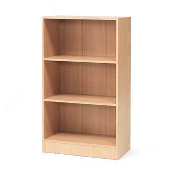 Bookcase, 3 shelves, 1325x760x415 mm, beech laminate