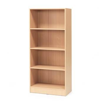 Bookcase, 4 shelves, 1725x760x415 mm, beech laminate