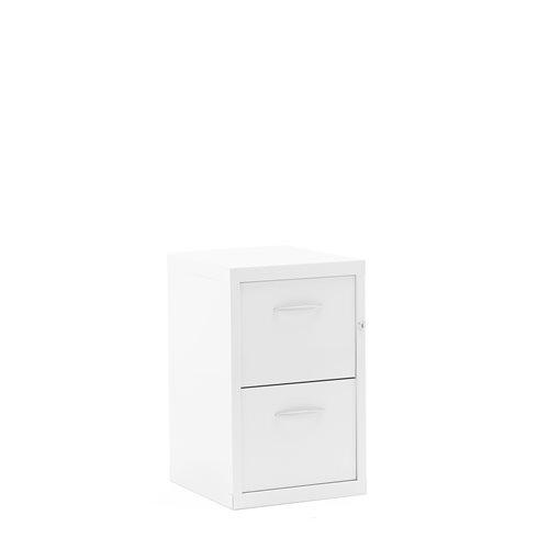 Arkistokaappi laatikoilla, 2 laatikkoa, 660x415x420 mm, valk