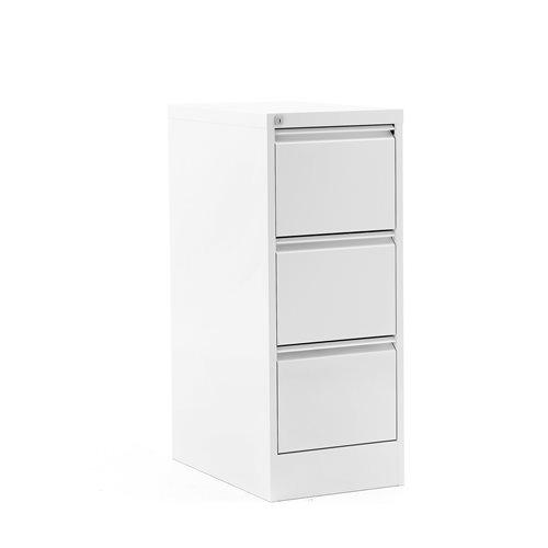 Riippukansiokaappi, 3 laatikkoa, 1030x415x630 mm, valkoinen