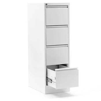 Szafka kartotekowa - A4, lakier aluminium, 400x620x720 mm