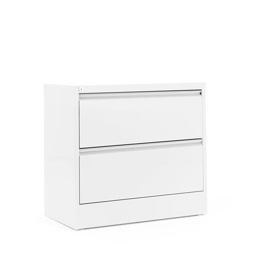 Riippukansiokaappi, A4, 2 vetolaatikkoa, 800x740x425 mm, valkoinen