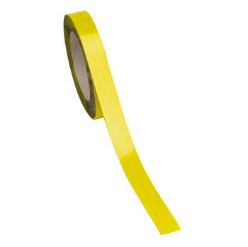 Magnetic easy wipe racking strip, 20x10000 mm, yellow