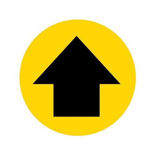 Graphic floor sign: arrow
