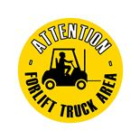 Graphic floor sign: Forklift truck area