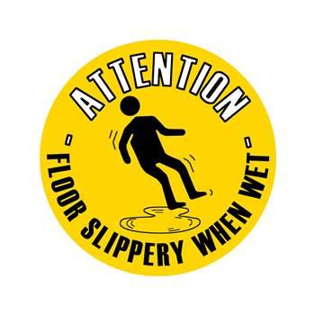 Graphic floor sign, Floor slippery
