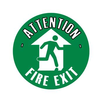 Graphic floor sign, Fire exit