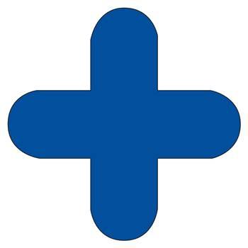 Floor signal, + shape, 10-pack, blue