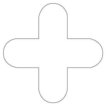 Floor signal, + shape, 10-pack, white