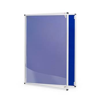 Tamperproof noticeboard, 600x900 mm, dark blue
