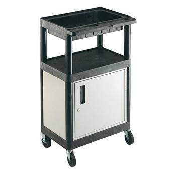 Service trolley: 1 shelf+1 tray+cupboard