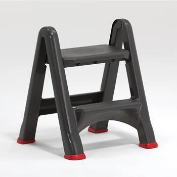 Plastic folding step stool