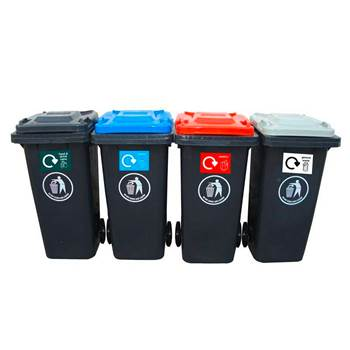 Package deal: 4 recycling wheelie bins