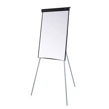 Tripod whiteboard & flip chart easel, 700x1000 mm