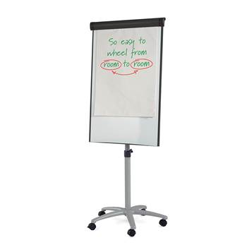 Mobile whiteboard & flip chart easel with side arms