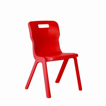 All-in-one plastic chair, H 260 mm, red