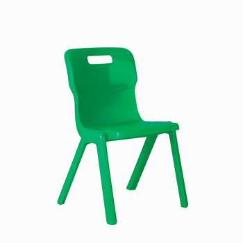 All-in-one plastic chair, H 260 mm, green